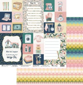 Papel My Memories Para Scrapbook - My Home - MMCMHO-04