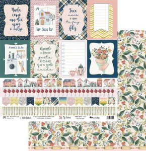 Papel My Memories Para Scrapbook - My Home - MMCMHO-06