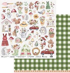 Coleção Kit My Garden - Papel My Memories Para Scrapbook