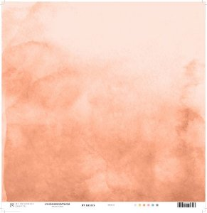 Papel My Memories Para Scrapbook - My Basics Coral MMCMB-03
