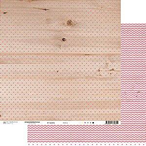 Papel My Memories Para Scrapbook - My Hearts Rosa MMCMH-03