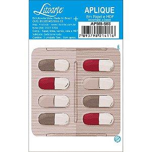 APM8-588 - Aplique Em Papel E MDF - Cartela de Remédio