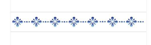 Stencil 4X30 Simples – Flores Pontilhadas – OPA 768
