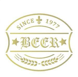 Stencil 10X10 Simples – Rótulo Cerveja – OPA 1983