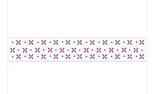 Stencil 4X30 Simples – Pontilhado V – OPA 1041