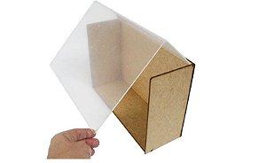Caixa Cenário com Acrílico MDF com tampa 28,5 x 10,5 cm