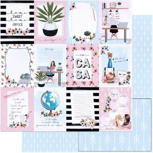 Papel Para Scrapbook Dupla Face 30,5 Cm X 30,5 Cm - Cards - SD-1150