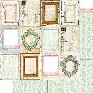 Papel Para Scrapbook Dupla Face 30,5 Cm X 30,5 Cm - Bons Momentos Cards Molduras - SD-1155
