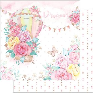 Papel Para Scrapbook Dupla Face 30,5 cm x 30,5 cm – Balões Floridos SD-735