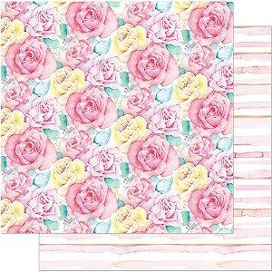 Papel Para Scrapbook Dupla Face 30,5 cm x 30,5 cm – Floral Grande SD-736