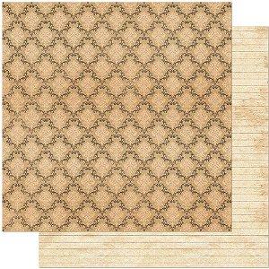 Papel Para Scrapbook Dupla Face 30,5 cm x 30,5 cm – Estampa Adamascada Vintage SD-787
