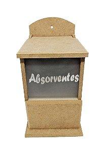 Porta Absorventes Com Vidro Jateado Em Mdf