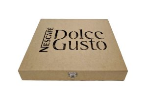 Caixa Porta 30 Capsulas Dolce Gusto Café Laser MDF