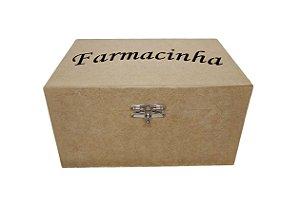 Caixa MDF Farmacinha Bandeja Com Fecho e Tampa Articulada