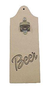 Placa Abridor Beer Laser Metal de Garrafa Parede MDF