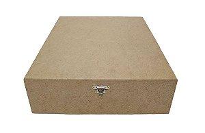 Caixa 9 Divisórias Articulada C/Dobradiça e Fecho Metal MDF