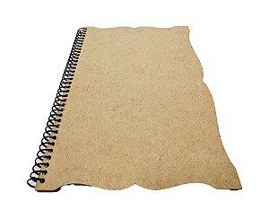 Caderno Grande 98 Folhas Trabalhado Capa MDF