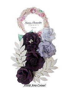 Flores de Papel P/ Scrapbook 07-01 Manjar de Jabuticaba