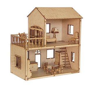 Kit Casinha Mini Com Sacada Woodplan CLB 14 móveis - A051