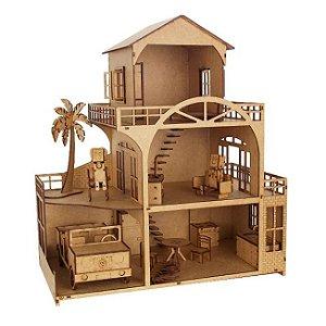 Kit Casinha Tradicional Woodplan CLB com 15 Móveis - A049