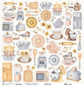 Papel My Memories Para Scrapbook - My Kitchen - My Ingredients MMCMK-01