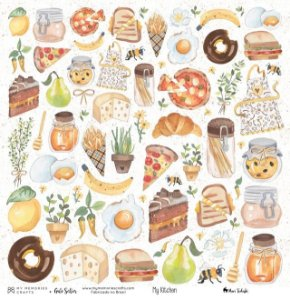 Papel My Memories Para Scrapbook - My Kitchen - My Food MMCMK-02