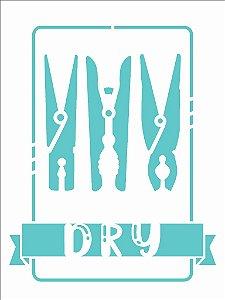 Stencil 15X20 Simples Lavanderia Dry - Opa 2939