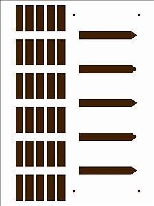 Stencil 15X20 Simples – Country Brasil Cerca - Opa 2933