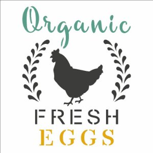 Stencil 14×14 Simples Farmhouse Organic Fresh Eggs Opa 2923