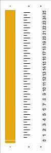 Stencil 10×30 Simples – Fita Métrica - Opa 2911