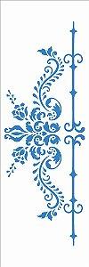 Stencil 10×30 Simples – Arabesco e Lança - Opa 2910