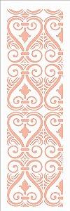 Stencil 10×30 Simples – Arabesco Coração - Opa 2909