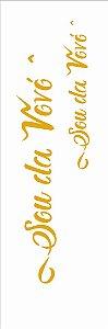 Stencil 10×30 Simples – Frase Sou da Vovó e Vovô - Opa 2917