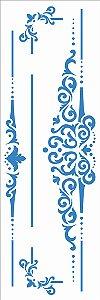 Stencil 10×30 Simples – Moldura Arabesco IV - Opa 2919
