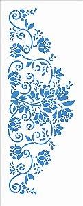 Stencil 17X42 Simples – Flores Ramos - Opa 2947