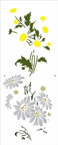 Stencil 17X42 Simples – Flores Margaridas - Opa 2948