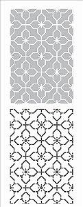 Stencil 17X42 Simples – Estamparia Ladrilho Duplo - Opa 2953