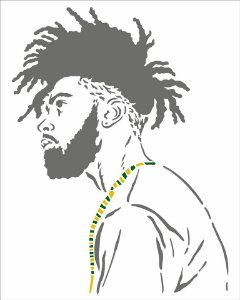 Stencil 20X25 Simples Afro Homem - Opa 2954