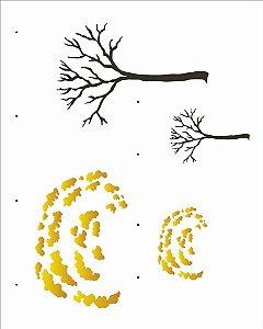 Stencil 20X25 Simples Country Brasil Ipê Opa 2965