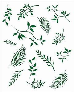 Stencil 20X25 Simples – Folhas III Opa 2995