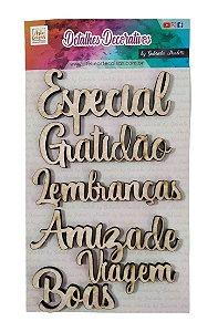 Aplique Conjunto 6 Palavras - Especial  By Gabriela Paoletti