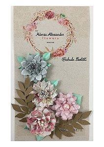 Flores de Papel P/ Scrapbook Nice França - By Gabi