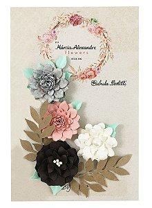 Flores de Papel P/ Scrapbook Senggigi Indonésia - By Gabi