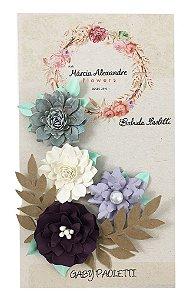 Flores de Papel P/ Scrapbook La Maia França 25.02 - By Gabi