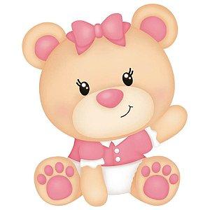 APM3-218 - Aplique Litoarte Em Papel E MDF - Ursinhas Bebês
