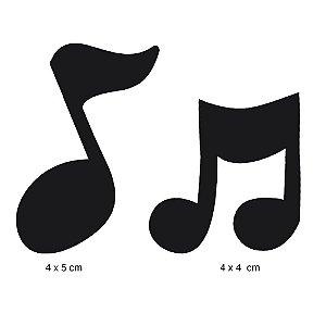APM4-148 Aplique Litoarte Em Papel E MDF - Notas Musicais