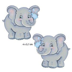APM4-256 Aplique Litoarte Em Papel E MDF - Elefantes