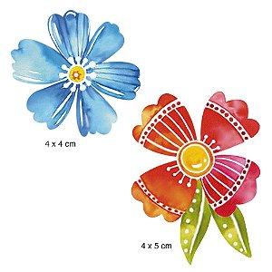 APM4-408 Aplique Litoarte Em Papel E MDF - Flores