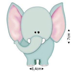 APM8-049 - Aplique Em Papel E MDF - Elefante