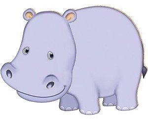 APM8-050 - Aplique Em Papel E MDF - Hipopótamo